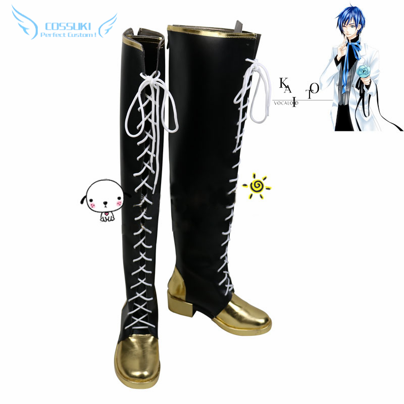Vocaoid Project Diva F Kaito Cosplay Shoes Boots Professional Handmade Perfect Custom for You