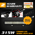 315W 20Inch ForOsram Chips Triplex Row LED Combo Work Light Bar Straight Refletion Cup Plus Offroad Driving Lamp Truck Trailer