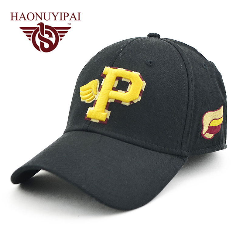 2016 Brand new Baseball Caps Letter P Spandex Fitted Hats For Men Women  Casquette Snapback Gorras Stealth Adjusting Belt F003-in Baseball Caps from  Apparel ... 6eff118c6840