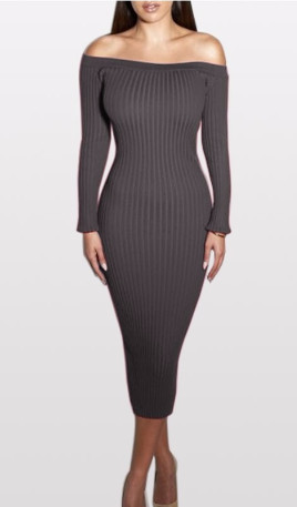 93b061b34554 Fashion Off Shoulder Bodycon Dress - Free Worldwide Shipping