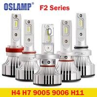 Oslamp F2 Series H4 Led Headlight H7 LED 6500K 9005 9006 H11 Headlight Bulbs Car LED