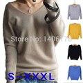 2015 качество марка Desigual женщины кашемировые свитера сексуальный шеи шерсть вязаные пуловеры свободного покроя Большой размер осень зима свитера