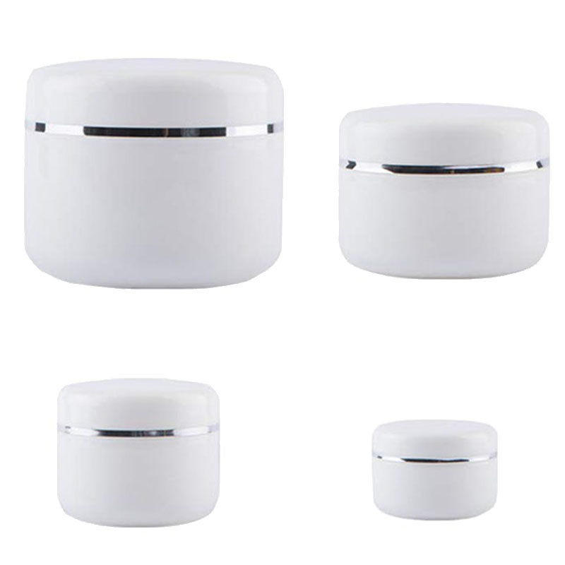 10Pcs 30g/50g/100g/250g Travel Face Cream Lotion Cosmetic Container Plastic Empty Makeup Jar Pot Refillable Bottles