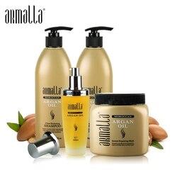 Nuovi Prodotti Best di Vendita 4pcs Armalla Marocchino Olio di Argan 500ml Shampoo + Balsamo 500ml + 500ml maschera per capelli 100ml Olio di Argan