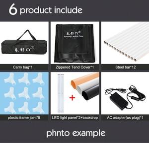 Image 5 - CY Профессиональный 32 80x80x80 см светильник для фотостудии, LED софтбокс, светильник для стрельбы, палатка, комплект для детской одежды, lichtbak