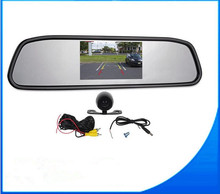 2 In 1 Universal Car Reverse 4.3 Inch Mirror Monitor + Auto Waterproof Rear View Parking Camera car Reversing Backup Assistance