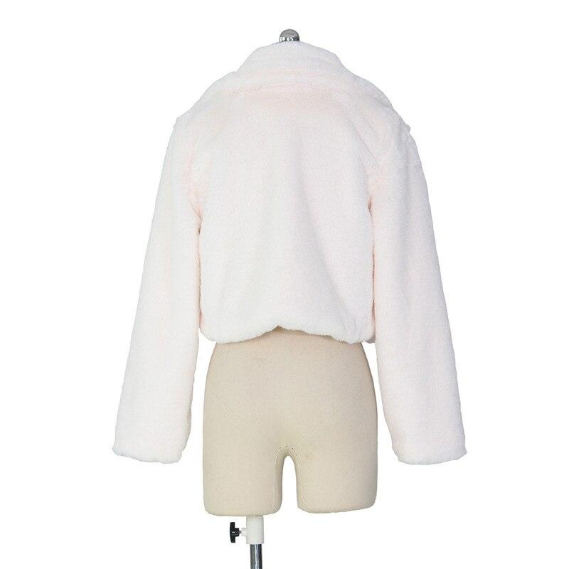 autumn winter faux fur coat short jacket-8