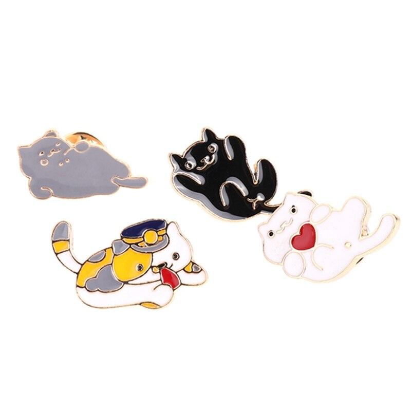 1 Stück Herz Katze Pin Emaille Pin Katze Revers Pin Brosche Für Jacken Und Rucksäcke Katze Liebhaber Schmuck Brosche FöRderung Der Produktion Von KöRperflüSsigkeit Und Speichel