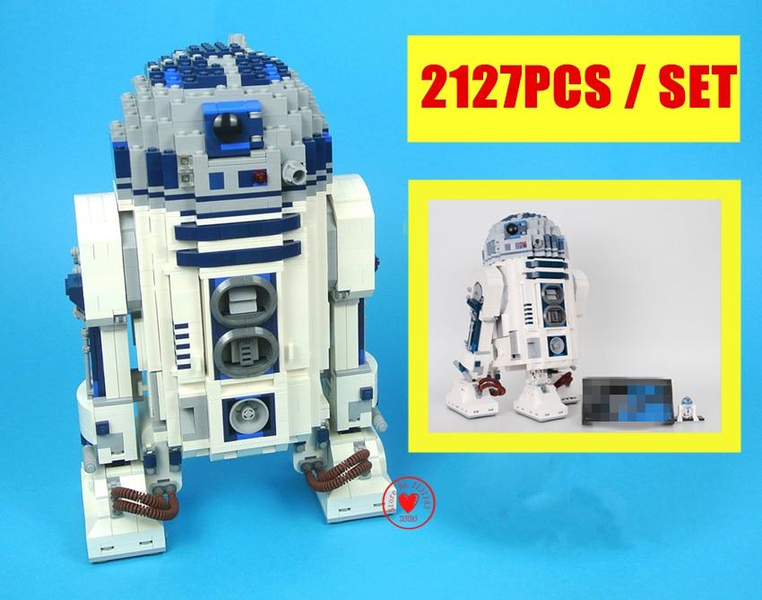 New legocean Star wars R2-Robot Out of print D2 Building Blocks Bricks boys Toys fit 10225 compatible legoes gift kids star wars футболка классическая printio r2 d2 star wars dead star