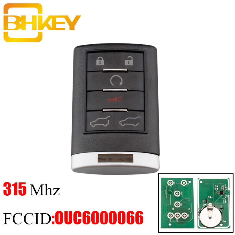 BHKEY 6Buttons 315Mhz Smart Remote Key For OUC6000066