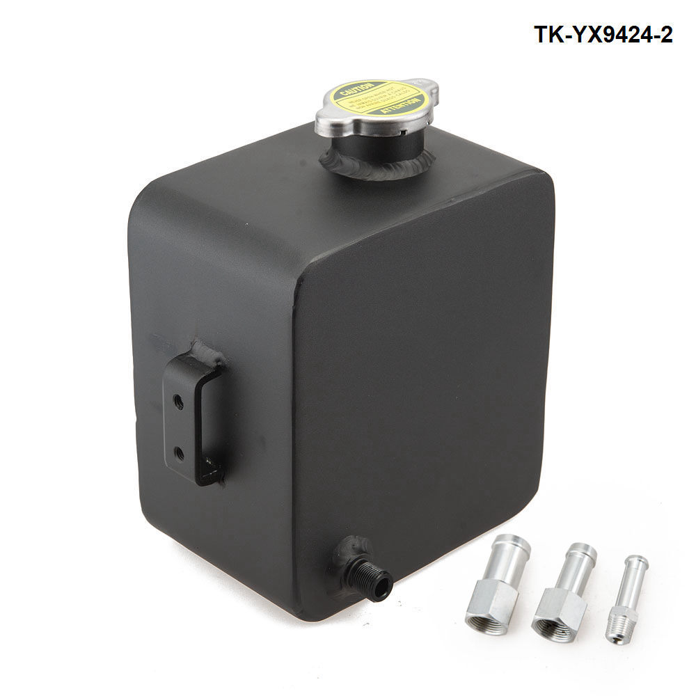 Universal 1L Aluminum Coolant Radiator Overflow Recovery Water Tank PICK UP