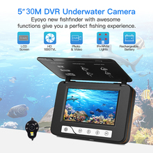 EYOYO Fish Finder Underwater Fishing Camera HD 5 Inch 1000TVL Video camera subaquatica dvr ICE Cam fishfinder