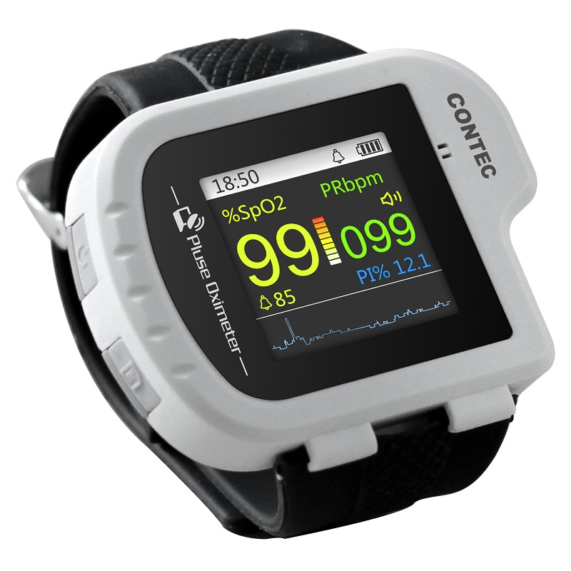 Wrist Oximeter Pulse Rate Monitor Sleep Study sleep apnea Detector Overnight Recording SPO2 Monitoring CONTEC CMS50I Well Packed-in Blood Pressure from Beauty & Health
