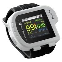 Wrist pulse oximeter Fingertip Color OLED Display SpO2 Probe Software,Watch Type Wareable Pulsioximetro