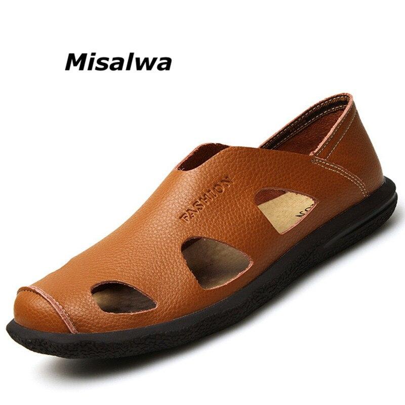 Antideslizante Hombres Sandalias De Sandals Playa 2019 Nuevos Misalwa brown Calidad Black Cómodo Casuales blue Sandals Genuino Verano Sandals Zapatos Cuero Los Goma fgA64fwxnq