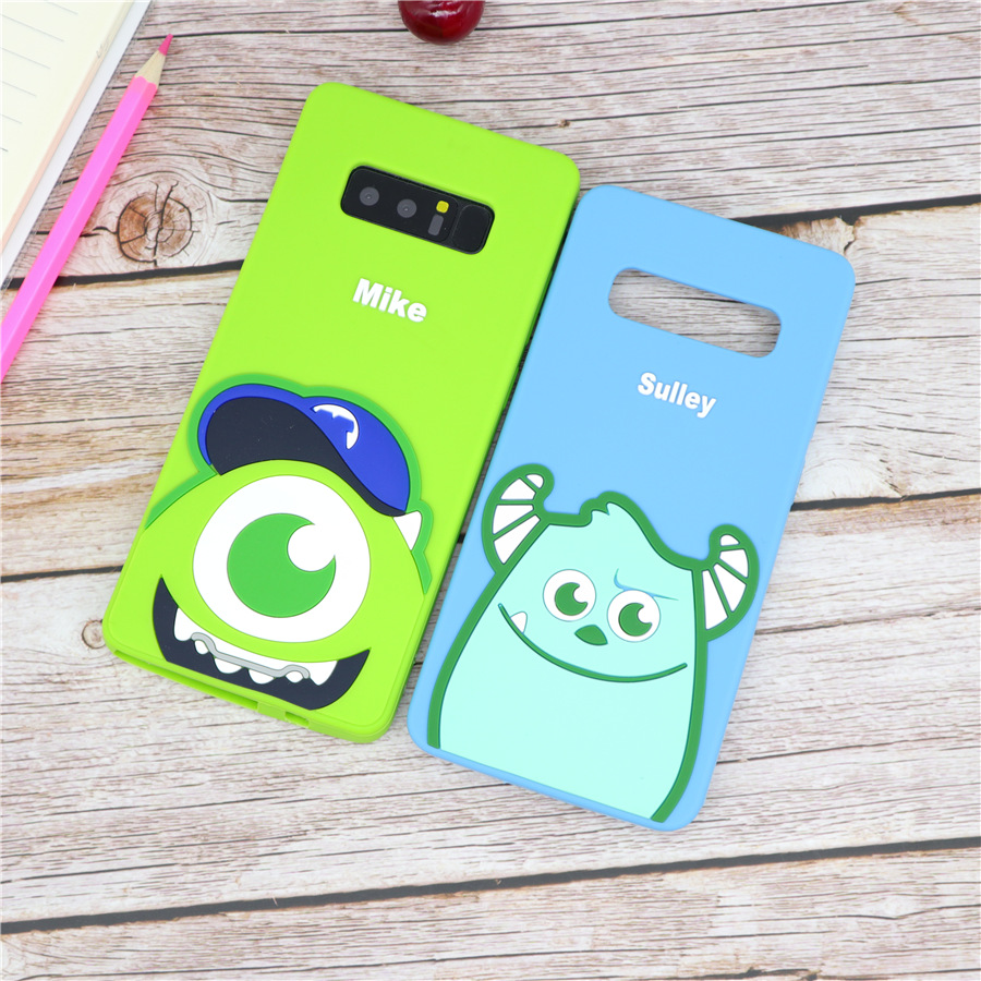 3D Cartoon Monsters Sully Mike <font><b>Phone</b></font> <font><b>Case</b></font> for <font><b>Samsung</b></font> Galaxy S8 <font><b>S9</b></font> S10 Plus S10e Note 8 Note 9 Soft Silicone Rubber Cover Coque image