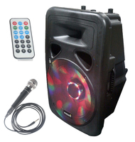 STARAUDIO 15 3500W Pro PA DJ Stage Club Powered Active USB BT FM Speaker W/ LED Light 1 Wired Mic SML 15RGB