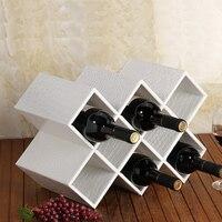 Leather quality fashion wine rack wine bottle rack wine cooler decoration fashion wine plaid