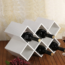 Leather quality fashion wine rack wine bottle rack wine cooler decoration fashion wine plaid fashion quality rose household wine rack baijiu home decoration iron wine holder