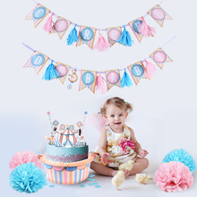Circus Baby Shower Girl Birthday Party Table Decorations 8pcs/set Pom Poms