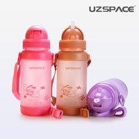Excellent Children Student Straw Cup Leak Proof Defence Fall Portable Straps Kettle Study Drink Cup Child