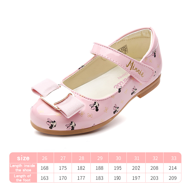 5ed0c484ab Disney children shoes 2018 spring and summer new fashion Magic sticker girl  single shoe princess girl shoes small leather shoes