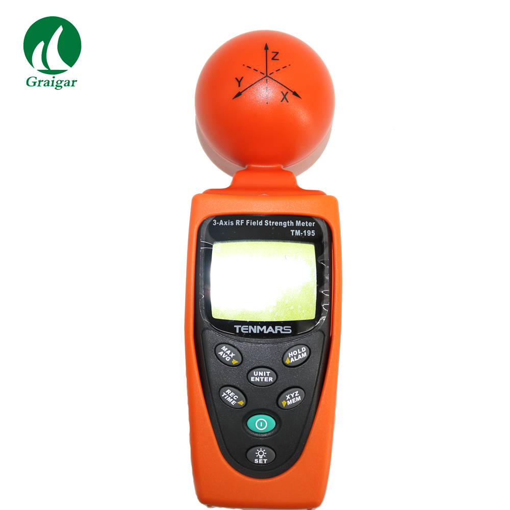 TM 195 _ 3 Axis RF Field Strength Meter, Liquid crystal (lcd), 4 1/2 цифр максимальное чтение 19999