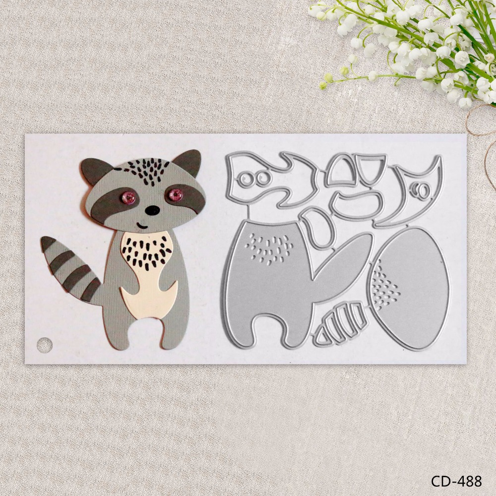 Zhuoang Metal Cutting Dies Beautiful Fox Seal for DIY Scrapbooking Photo Album Card Making DIY Decoration Supply zhuoang beautiful wooden rubber clear stamps and cutting dies set for scrapbooking photo album card making diy decoration supply