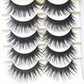 5 Pairs Handmade Black Voluminous False Eyelashes Makeup Very Thick Long Fake Eye Lashes Extention Tools