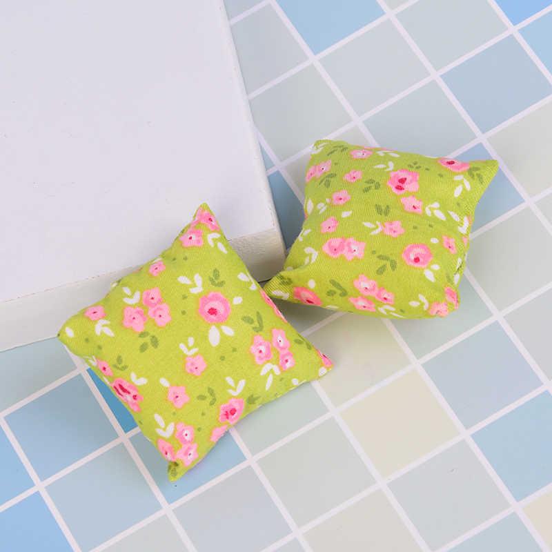 NOVA 1/2/Sapatos 3 Pcs Almofadas Travesseiro Para Sofá Sofá Cama 1/12 de Casa De Bonecas Móveis Em Miniatura Brinquedos Sem cadeira do sofá Do Bebê
