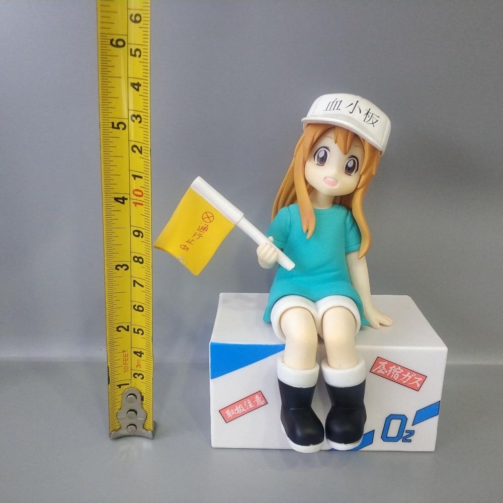 14cm Anime Nendoroid Hataraku Saibou Platelet Kesshoban Cells At Work PVC Action Figure Collectible Model Toy Gift