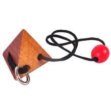 Rompecabezas 3D pirámide creativa desbloquear la cuerda juguete mente del cerebro rompecabezas juguetes para niños aprendiendo juguete educativo