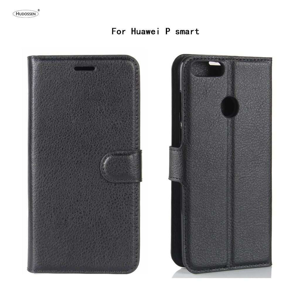 HUDOSSEN For Huawei P smart FIG-LA1 FIG-LX3 FIG-LX2 FIG-LX1 FIG-L21 Flip Leather Cover Phone Accessories Bags For Huawei P smart