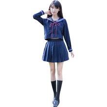 0e8daba8a9 Japonés coreano traje de marinero trajes de Cosplay uniformes de la escuela lindo  niñas estudiantes ropa + faldas + Bow-Tie 2019.