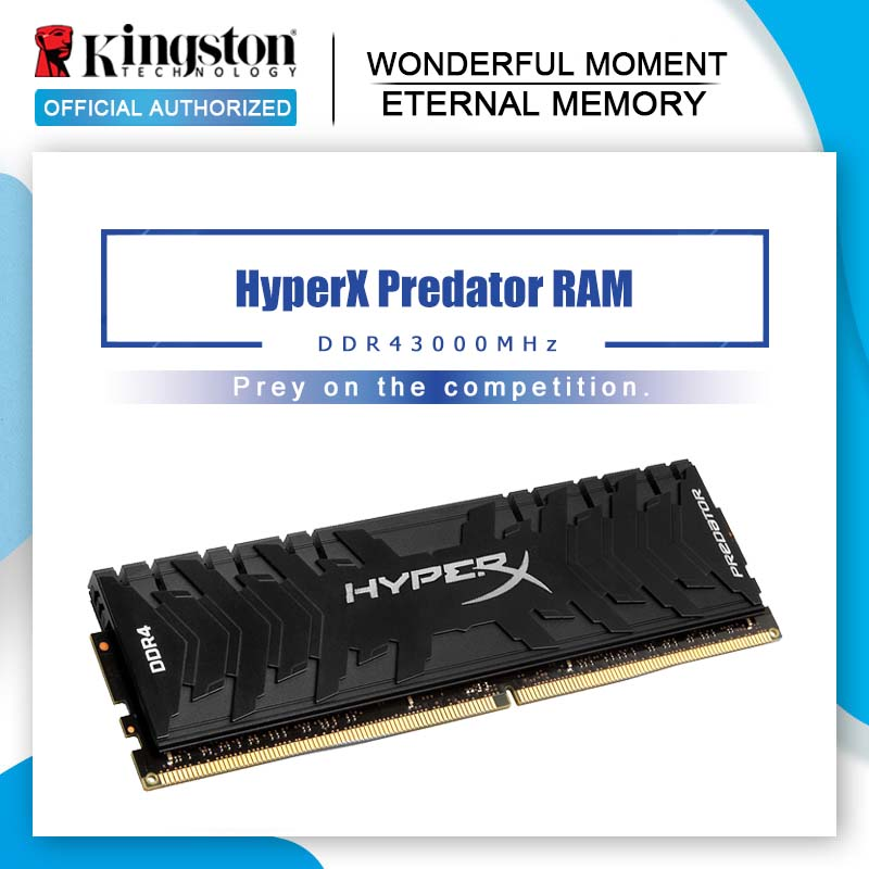 Kingston HyperX Predator Black 8GB 16GB 3000MHz DDR4 CL15 DIMM XMP HX430C15PB3 16 Memoria Ram ddr4