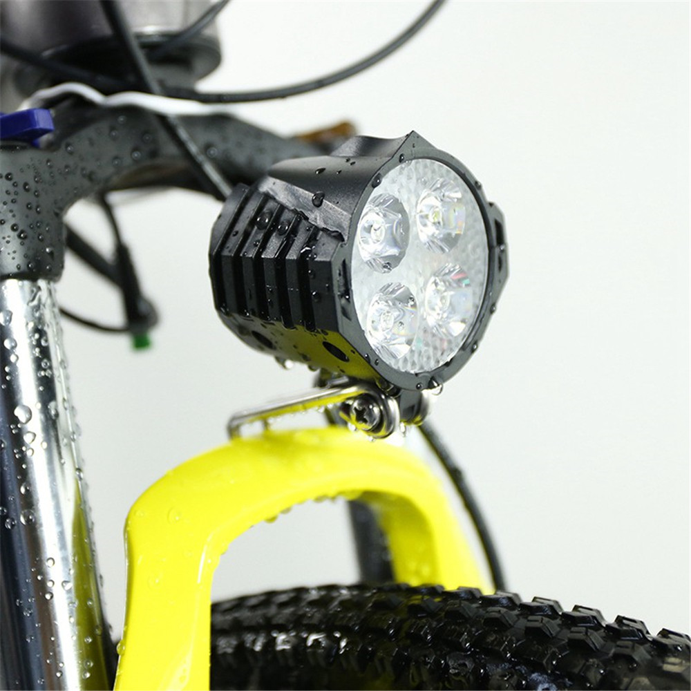 12W 36V 48V 72V 80V EBike Light Scooter Lamp Electric Bicycle 4 LED Front Headlight With Horn