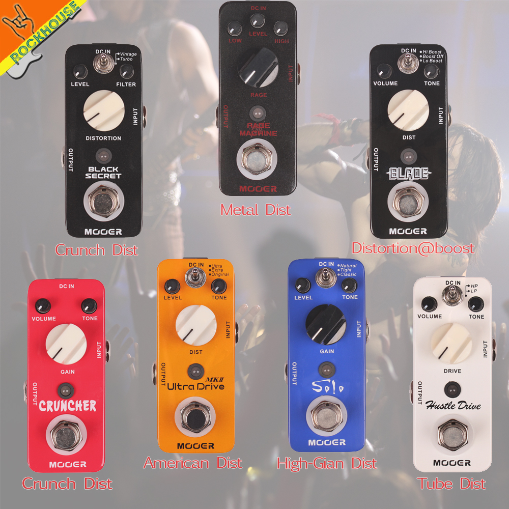 MOOER High-gain Distortion Guitar Effects Pedal British Crunch Distortion Heavy Rock Powerful Dynamic True Bypass Free Shipping mooer solo distortion guitar effect pedal high gain distortion true bypass with free connector and footswitch topper