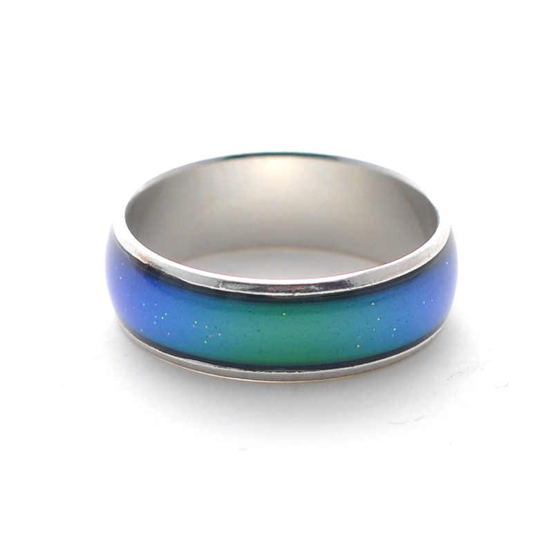 Hot sale Fine jewelry 6mm wide Mood rings classic temperature change color mood ring
