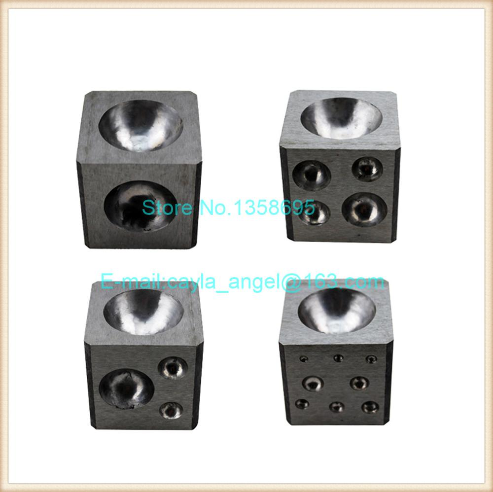 Steel Dapping Block Square Polished Jewelry Making Ring Tools Doming Punch Tool free shipping doming punch