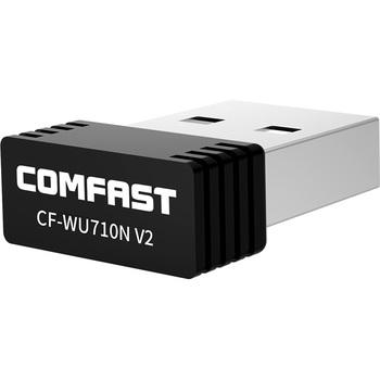 Tanie!! Bezprzewodowy Mini Adapter USB Wifi 802 11N 150 mb s USB2 0 klucz odbiorczy MT7601 karta sieciowa do komputerów stacjonarnych Laptop Windows MAC tanie i dobre opinie comfast 150 mbps Zewnętrzny wireless ETHERNET Pulpit CE FCC ISO Mini-pci 2 4g CF-WU710V2 Stock Single frequency (2 4-2 4835GHz)
