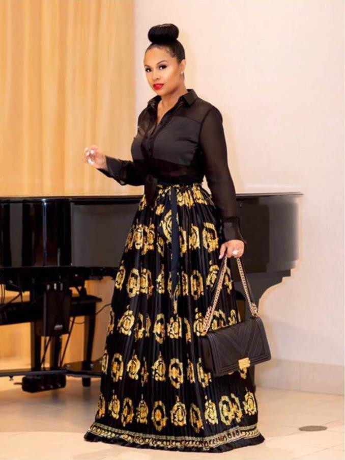 2019 African Dresses For Women Africa Clothing Long Dress Length Fashion African Dress For Lady