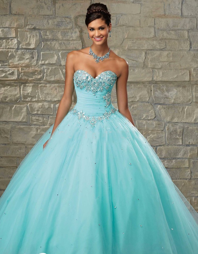 Wedding Dress 2017 Ice Blue Sexy Color Accented Sweetheart Sweep Crystal Beaded Sash Pink Dressesin Dresses From Weddings Events On: Wedding Dresses With Pink Blue Accents At Websimilar.org