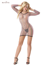 Sexy Lingerie Babydoll Hot Porn Erotic Dress Long Sleeve Mesh Net Women