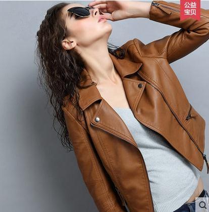 Veste Brown Della dark chocolate Blue Maschile E down Donne Leather Zipper Pelle olive Femme Outware Turn Cjj0050 Moto Colletto Di Giacca Cuir Faux En 2018 Cappotto red a1xC6