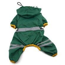 Дождевик для собак, светоотражающая водонепроницаемая одежда, комбинезон с капюшоном и высоким горлом для маленьких и больших собак, плащ-дождевик, золотистый ретривер, лабрадор