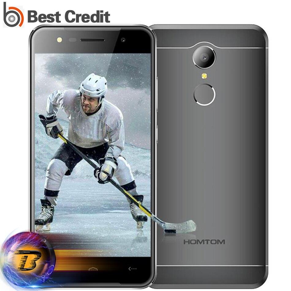 Цена за Оригинал HOMTOM HT37 Смартфон 5.0 дюймов 1280x720HD MTK6580 1.3 ГГц Отпечатков Пальцев ID Quad Core 2 ГБ + 16 ГБ 13MP мобильный Телефон