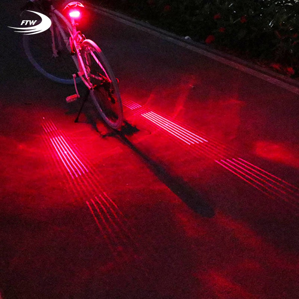 FTW Bicycle Tail Light USB Rechargeable 10 Line Laser Bike Rear Light Night Cycling safe ...