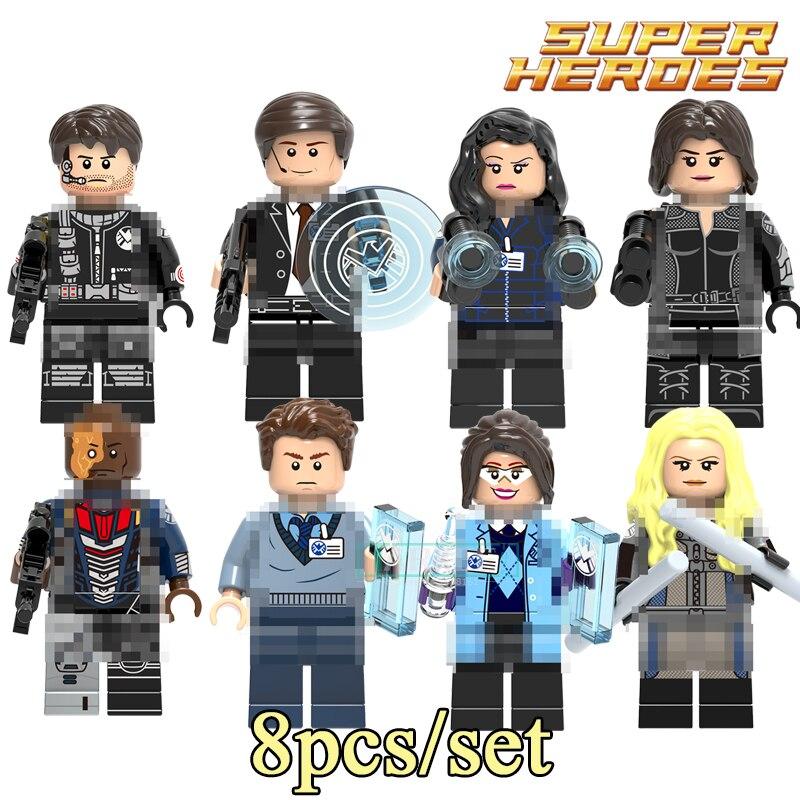 Building Blocks Phil Goulson Mockingbird Grant Ward Jemma Simmons Melinda May Dearhlok Super Heroes Figure Bricks Kid Toys X0182