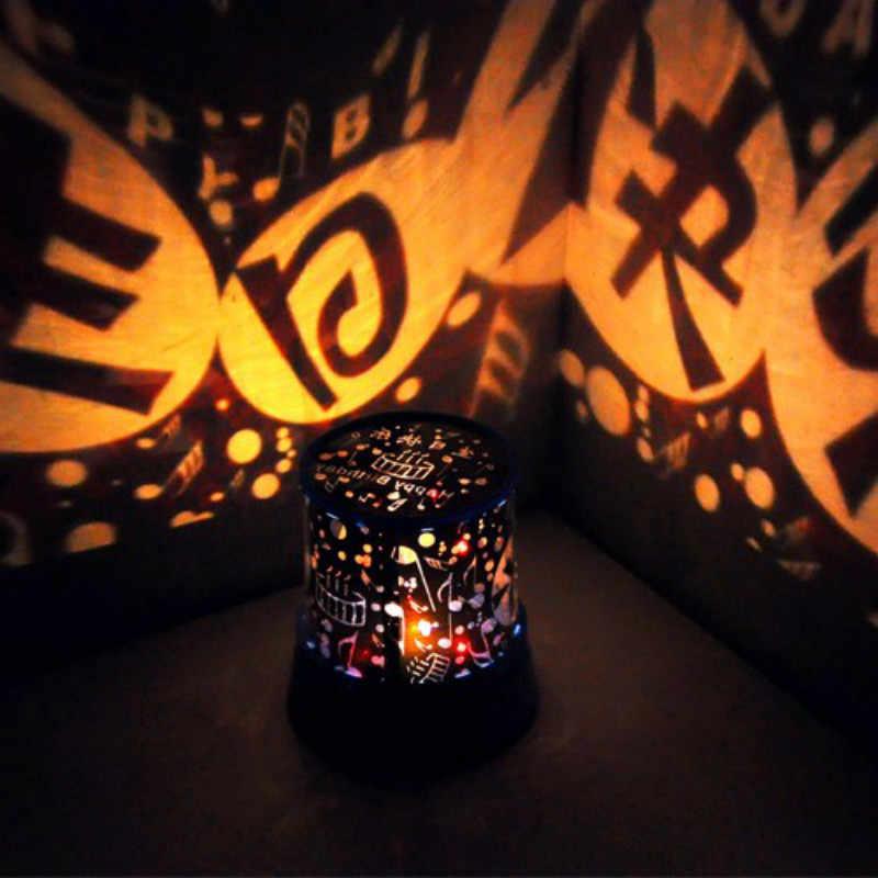 (Sem Bateria) luzes da noite Mini Lâmpada Do Projetor Luz Da Noite LEVOU Céu Estrelado Amante Party Room Desk Decoração Da Parede Crianças Quarto Decalques
