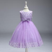 Ball Gown Floral Flowers Girl Dresses Appliques Bow Decoration Elegant Holy Wedding Party Dress First Communion Dresses floral girls ball gown dress luxury kids girl wedding clothing birthday party communion banquet vestidos appliques dresses s183
